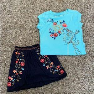 Girls Disney Skirt/Shirt Outfit